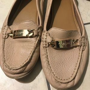 Coach taupe loafers